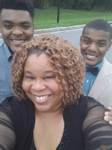 Rhonza poses with her youngest sons