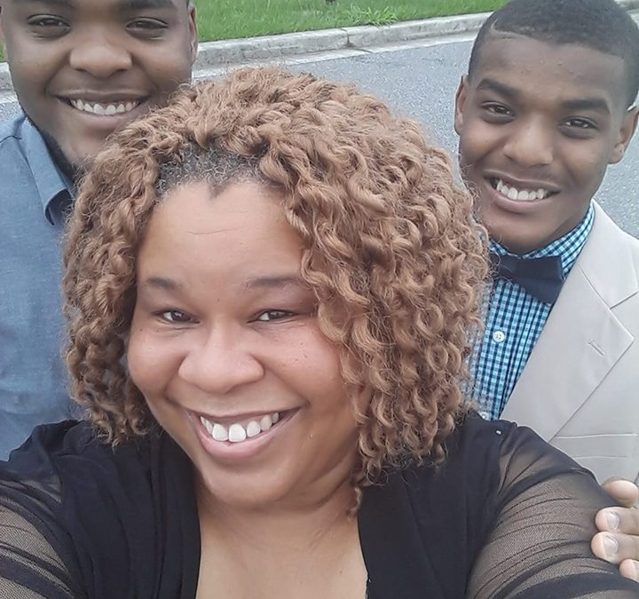 Rhonza with her youngest sons