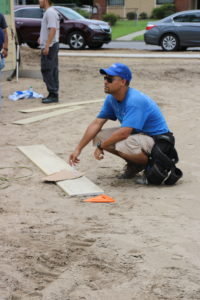 Crew leader Jose works on a Habitat Orlando & Osceola build site.