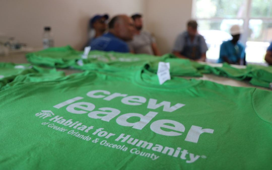 Habitat Orlando & Osceola crew leader shirt