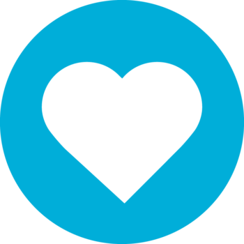 Blue construction hat icon