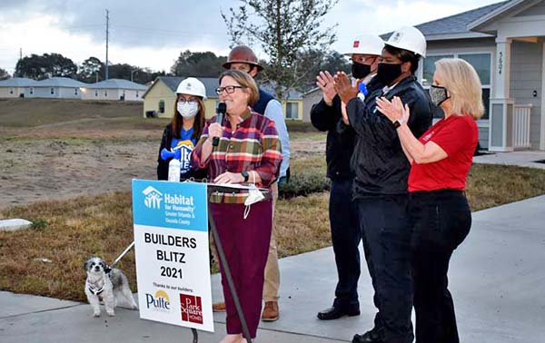 Catherine speaks during opening ceremony at Builders Blitz